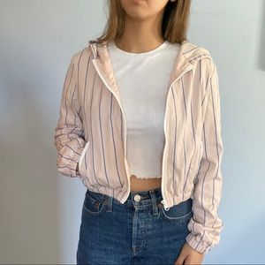 Cropped zip up jacket forever 21